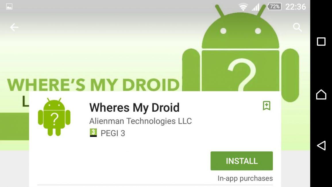 Приложение Where's My Droid