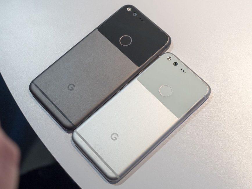 Google Pixel и Pixel XL вид сзади