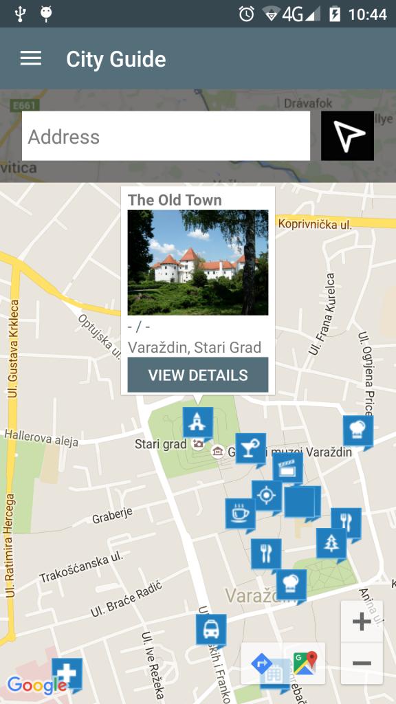 Навигатор CityGuide на Андроид