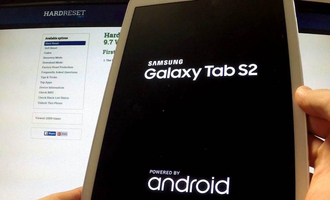 Загрузка планшета на базе Андроид