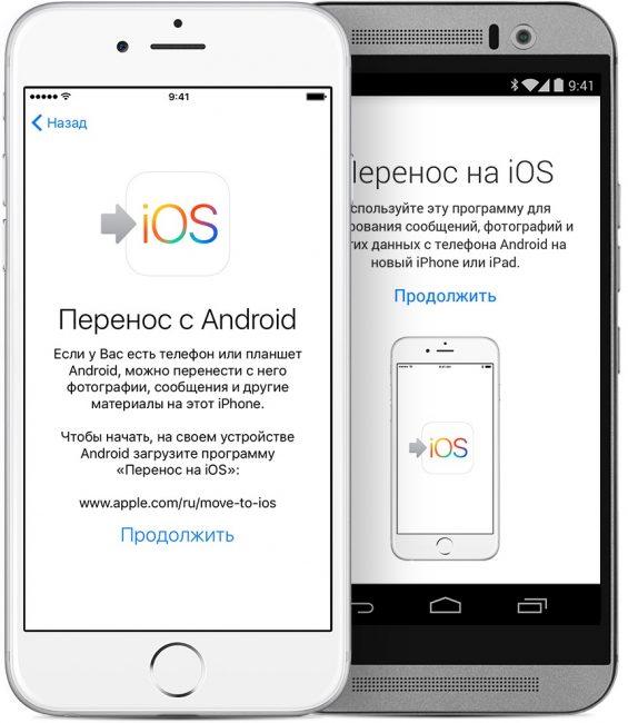 Перенос контактов с Андроида на Айфон