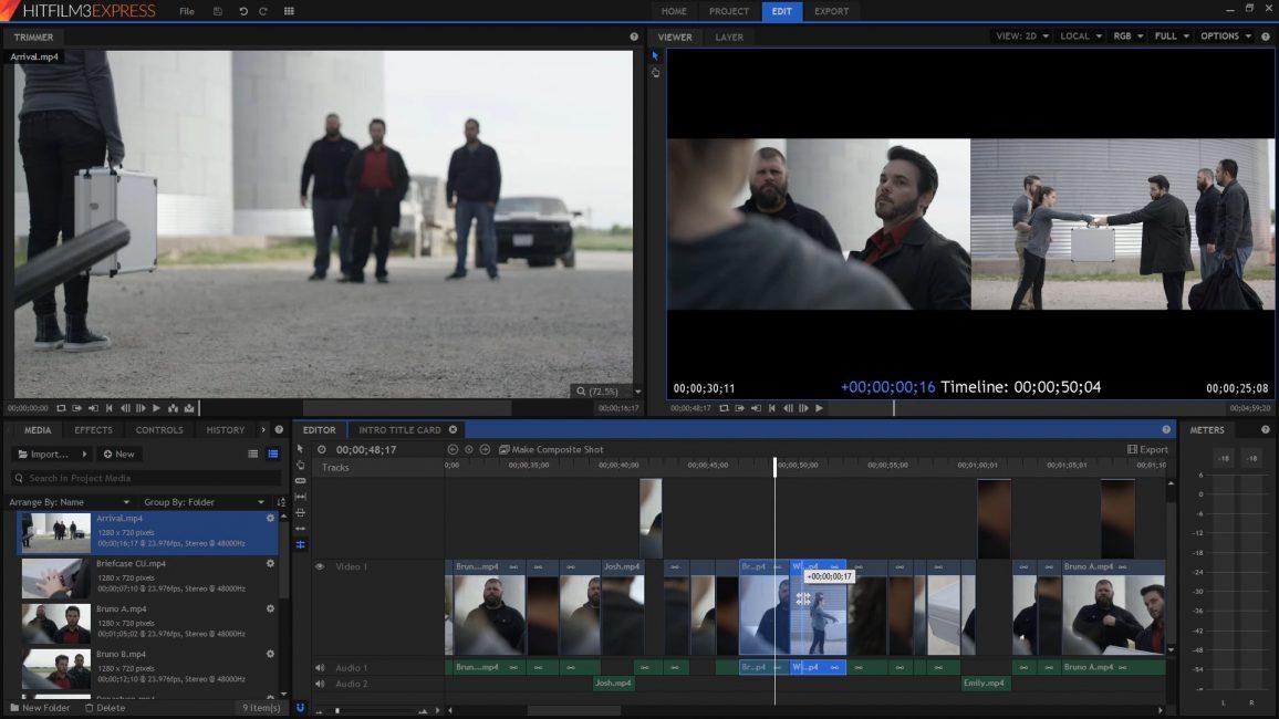 Видеоредактор HitFilm Express