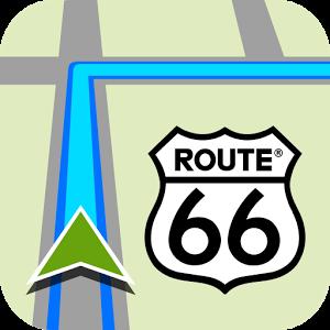 Логотип навигатора ROUTE 66