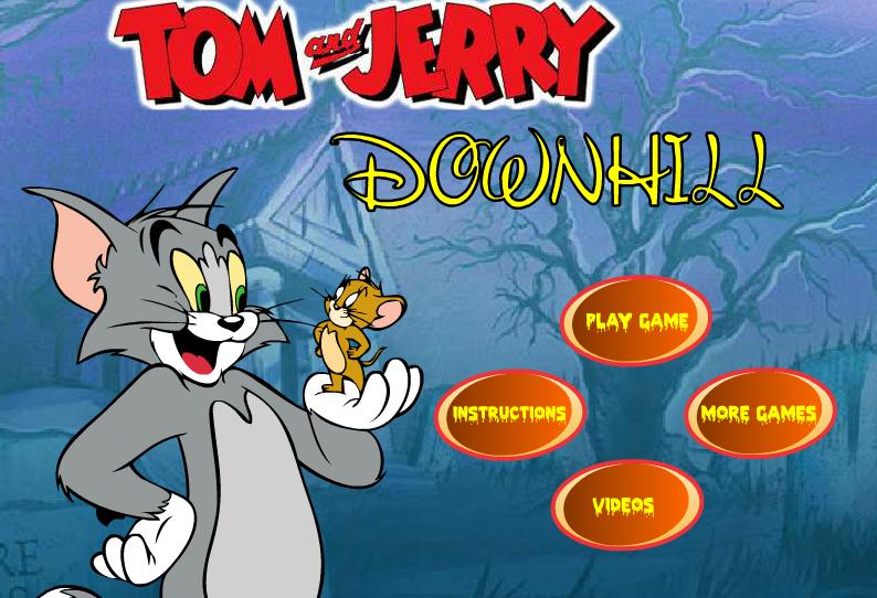 """Меню """"Том и Джерри гонки с горы"""""""