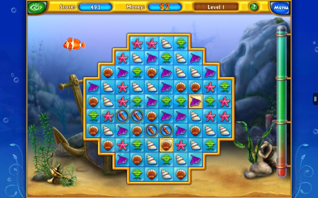 Мини-игра в игре Fishdom