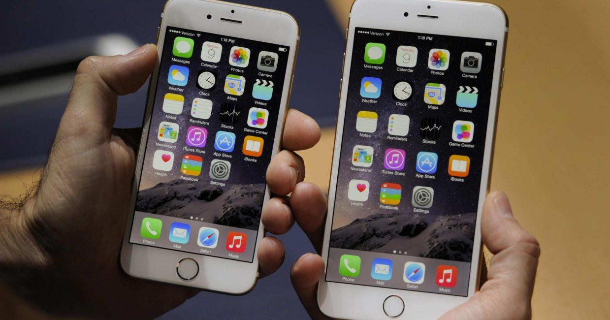Визуальная разница между iPhone 6 Plus перед 6