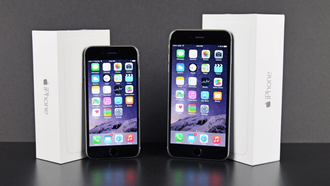 iPhone 6 Plus выигрывает величиной экрана у iPhone 6
