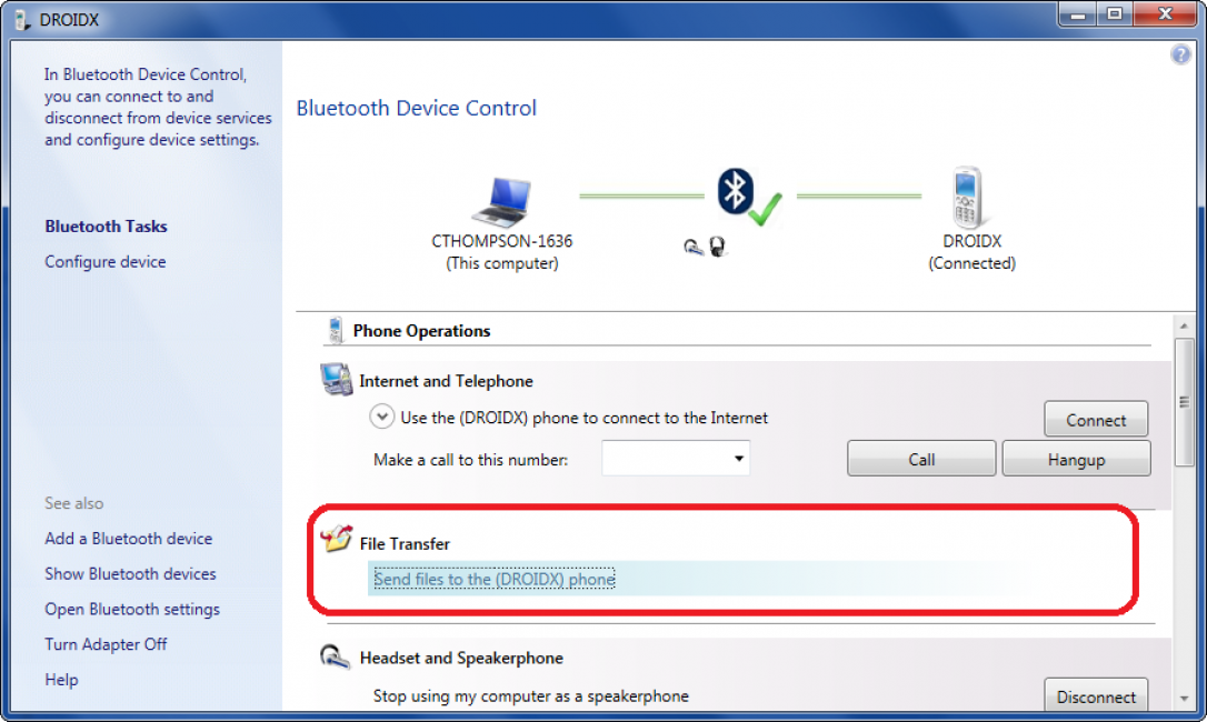 Bluetooth Fle Transfer