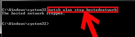 """Появляется надпись """"netsh wlan start hostednetwork"""""""