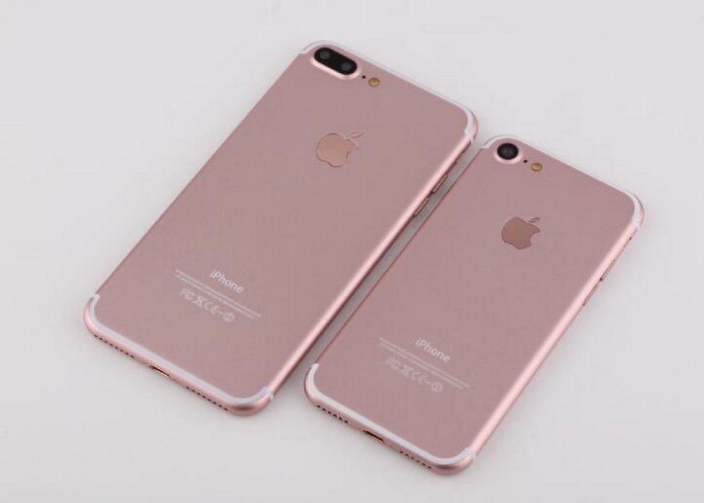 Вид сзади iPhone 7 и 7 Plus