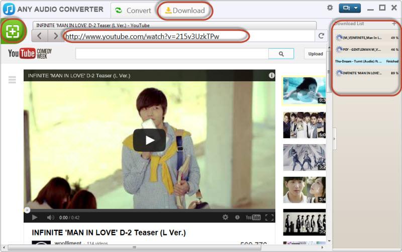 Cохранение ссылки видео в программе Any Video Converter