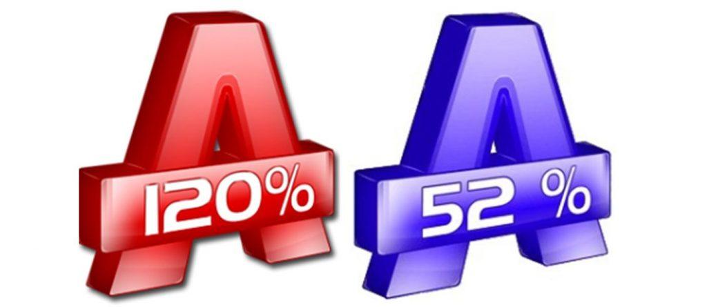 Alcohol 120% и 52%