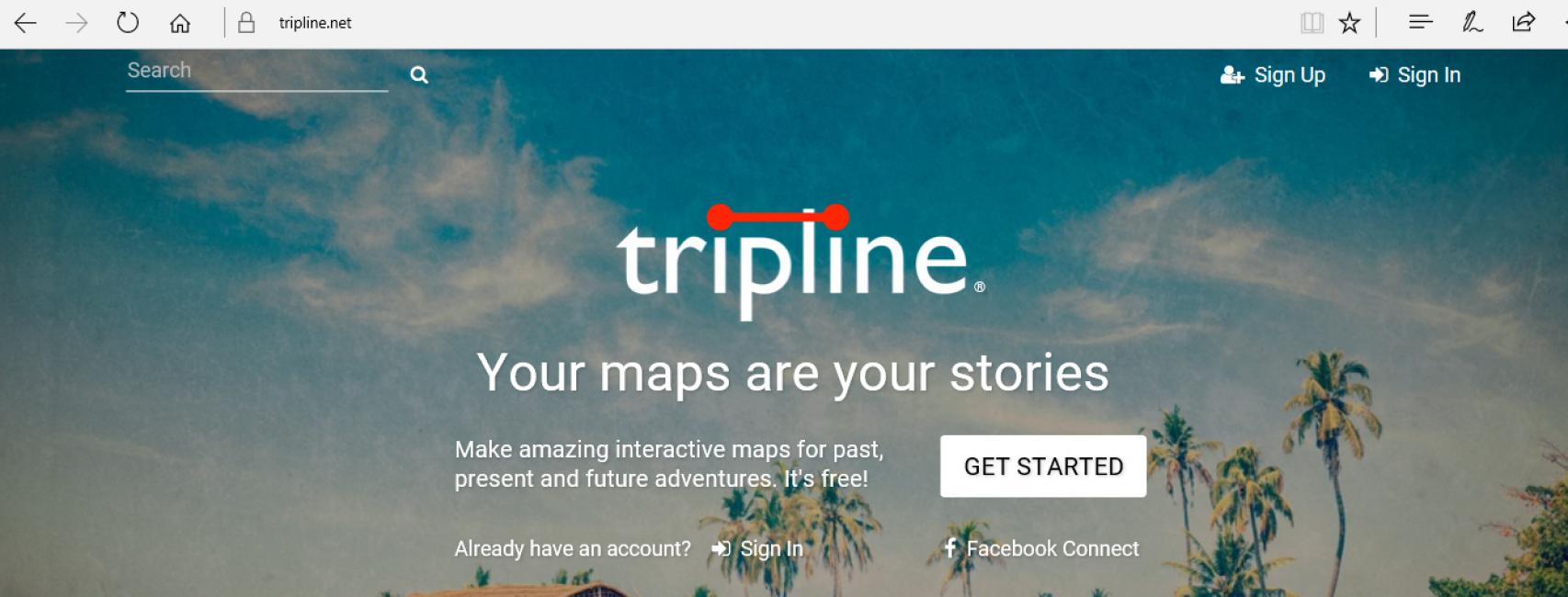 Tripline.net главная страница сайта