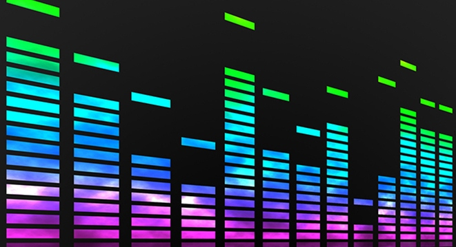Музыкальный эквалайзер. Заставка
