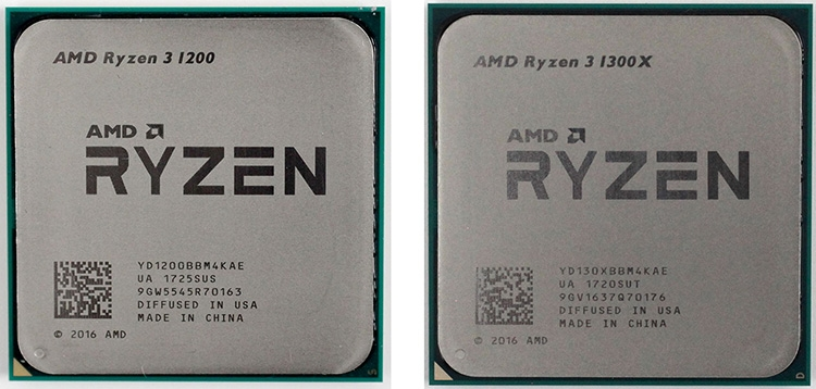 AMD Ryzen 3 1200 и 1300Х