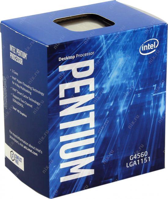 Процессор Pentium G4560