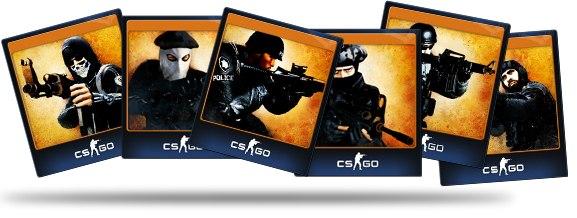 Коллекционные карты, представленные на примере игры Counter-Strike: Global Offensive
