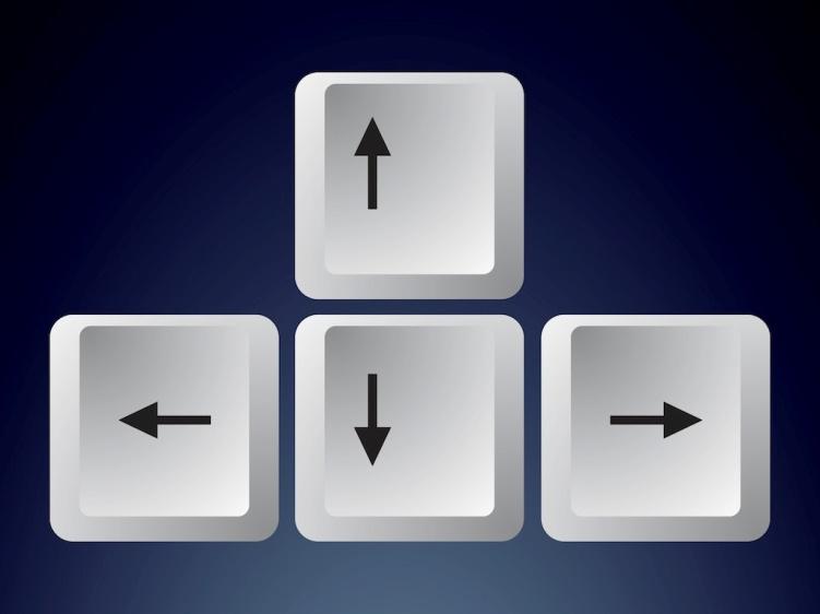 Кнопки передвижения курсора по тексту (право, лево, вниз, вверх)