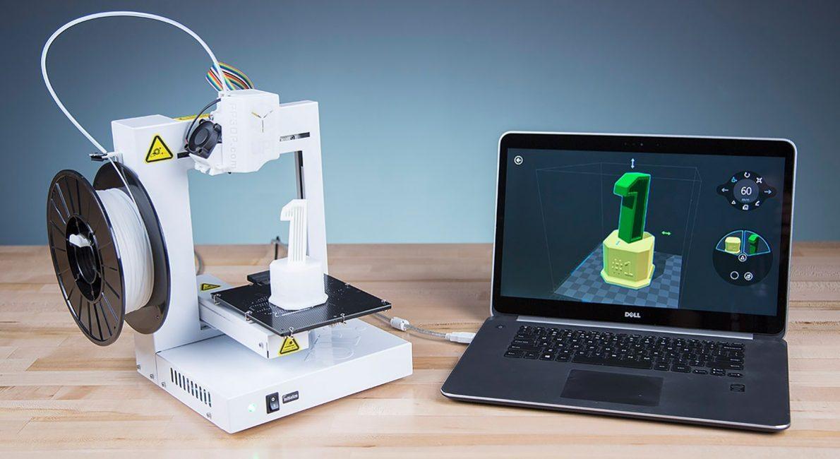 Пример печати готового рисунка на домашнем 3D принтере