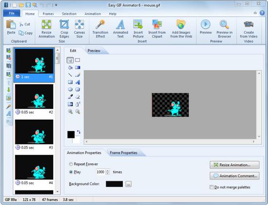 Приложение Easy GIF Animator