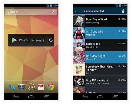 Иконка виджета Sound Search for Google Play и его главное меню