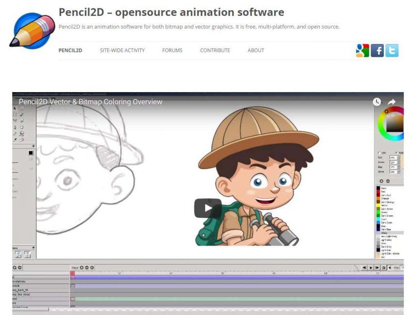 Приложение Pencil2D