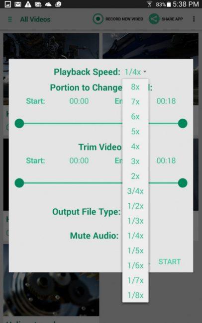 Приложение Fast & Slow Motion Apps