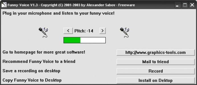 Funny voice интерфейс