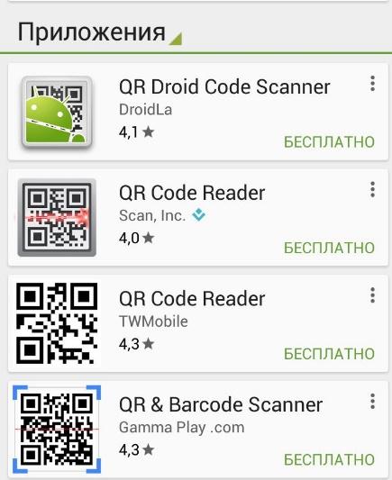 Приложения для считывания QR