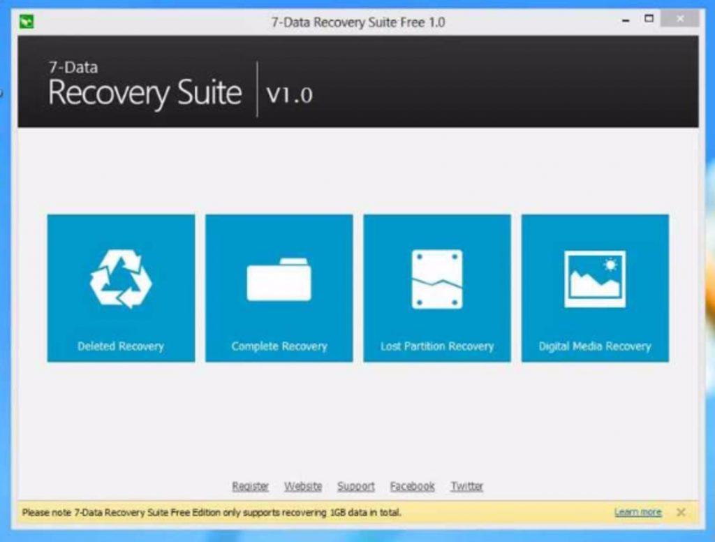 Интерфейс программы 7-Data Recovery Suite