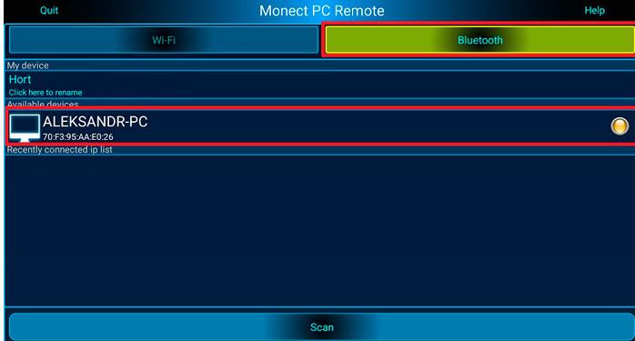 Подключение стационарного компьютера к телефону через Bluetooth посредством программы Monect PC Remote