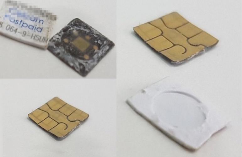 Как разделить чип и его пластиковую основу