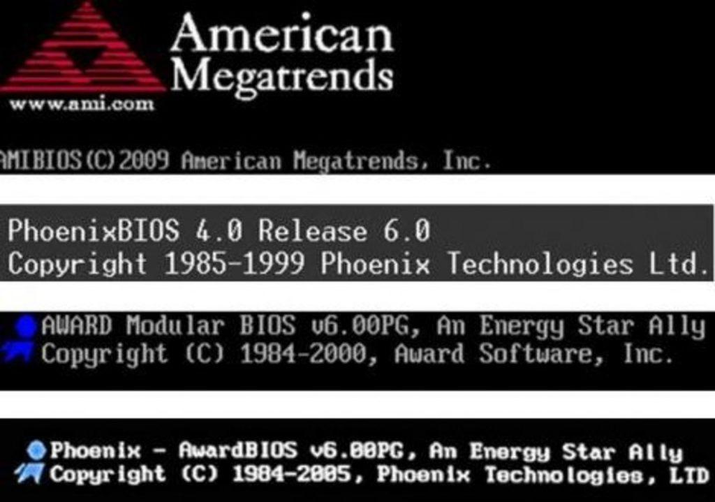 Различные виды БИОС на Windows 7