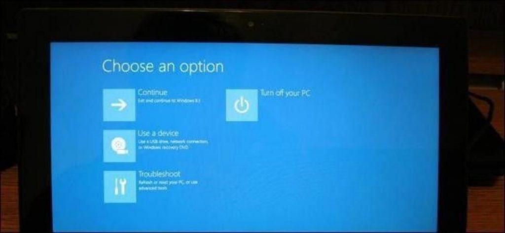 Заход в BIOS на Windows 10
