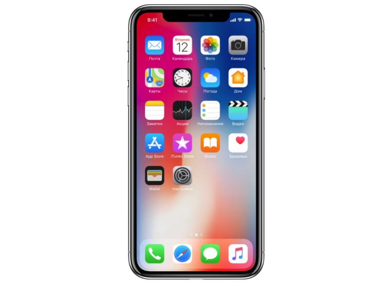 Дисплей iPhone X наглядно