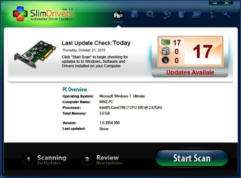 Программа SlimeDrivers