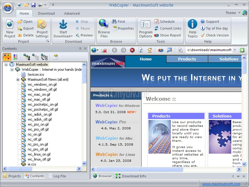 Программа Webcopier