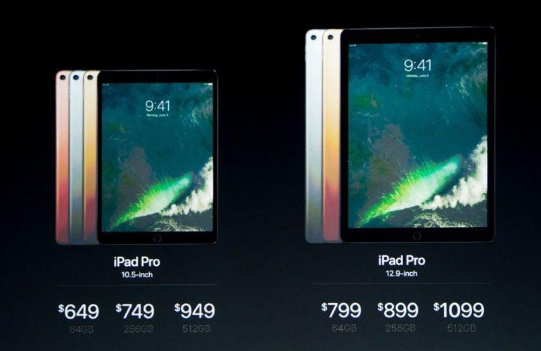 Сравнение iPad Pro 10.5 и iPad Pro 12.9