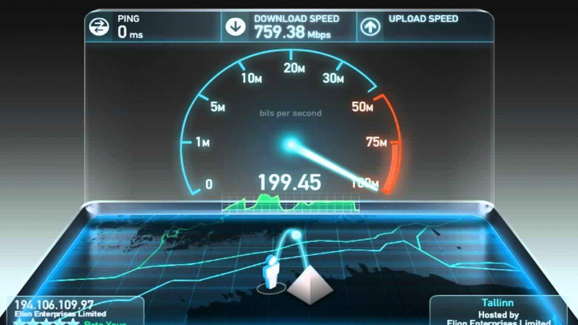 Проверить скорость интернета на компьютере с помощью Speedtest.net