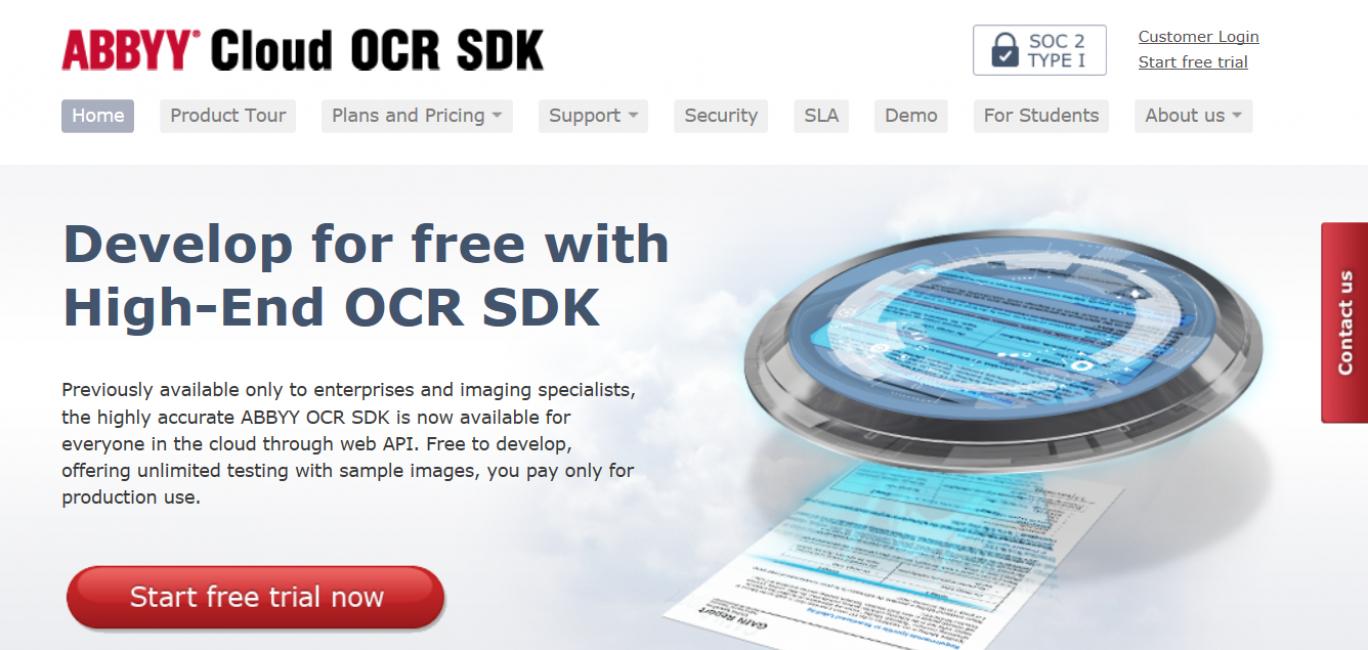 СервисABBYY Cloud OCR SDK