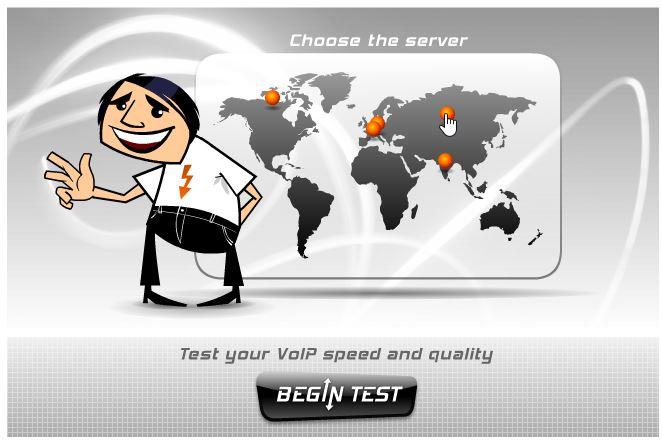 Проверить скорость интернета с помощью cервиса Voiptest.org
