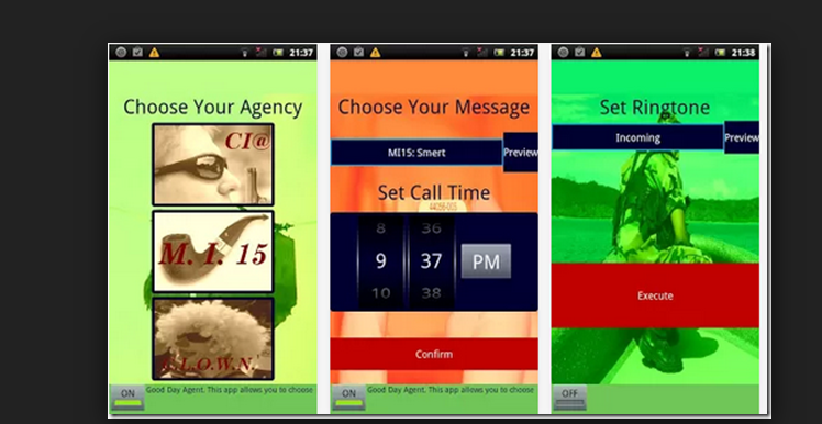 На ваш мобильный поступит несуществующий звонок, благодаря настройкам приложения