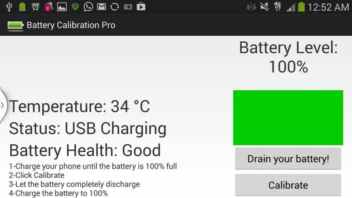 Калибровка на телефонах с несъемной батареей