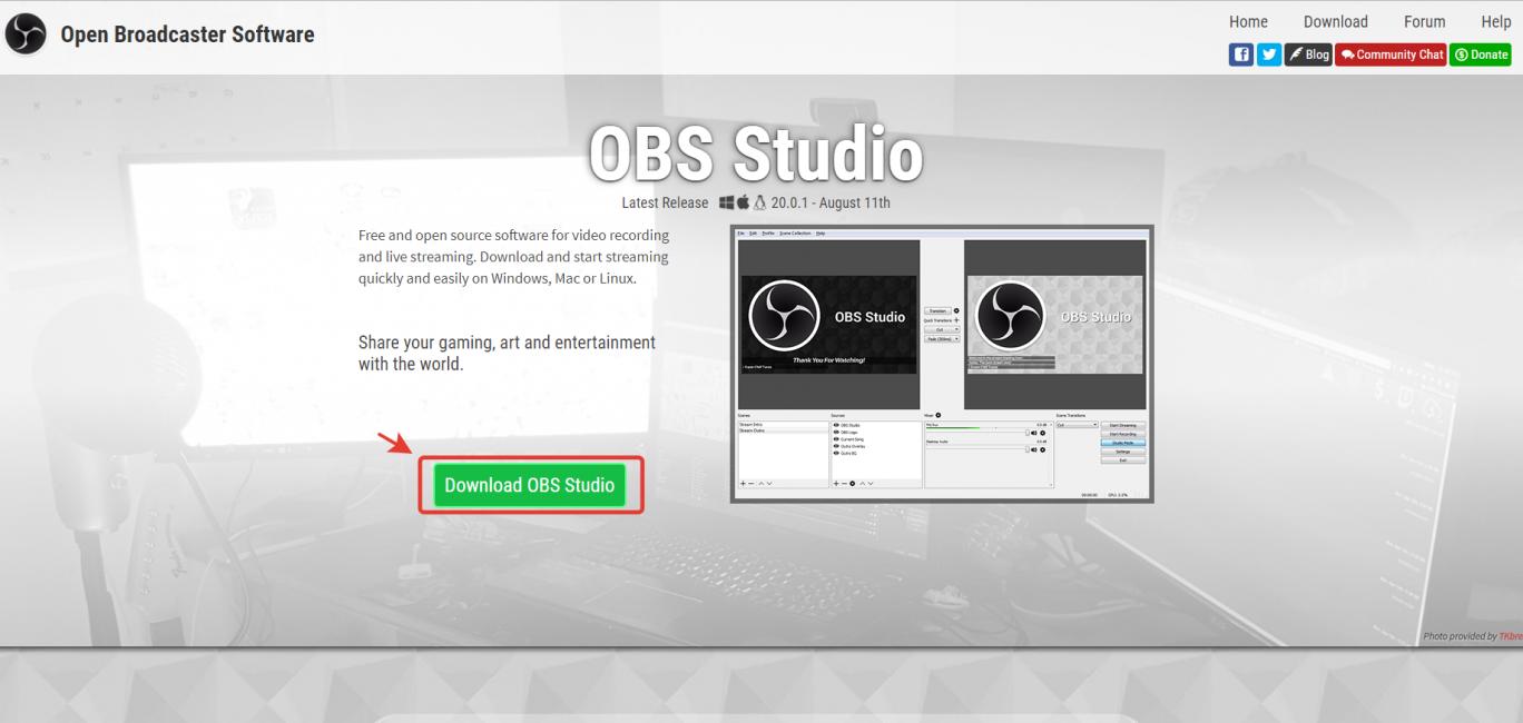 Трансляция через OBS