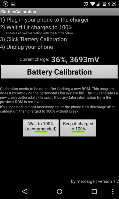 Программа BatteryCalibration