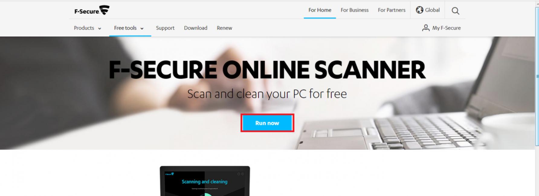 Сервис F-Secure Online Scanner