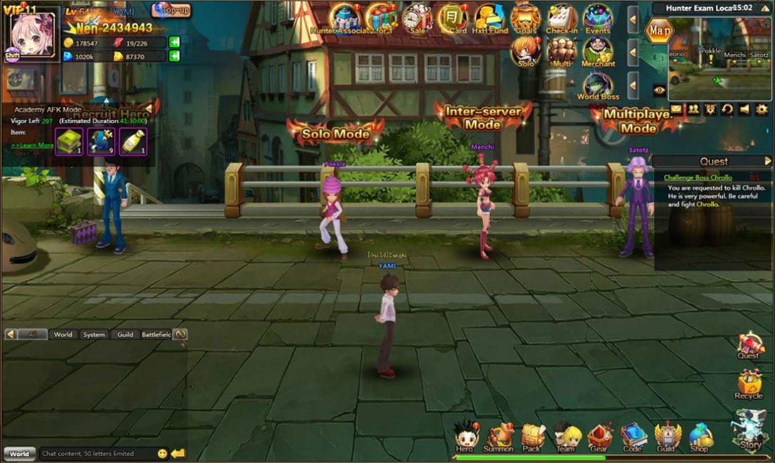 Браузерная игра Hunter X Hunter online
