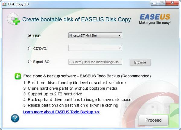 Программа EASEUS Disk Copy