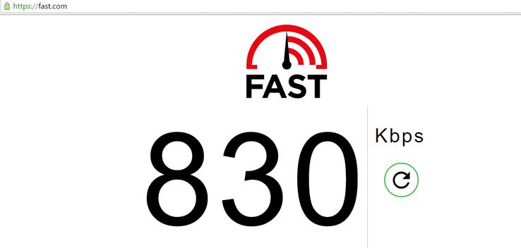 Проверить скорость интернета с помощью Fast.com