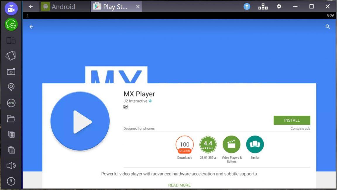 Если есть звук, но не показывает видео на android, загрузите МХ Player